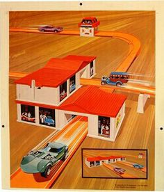 Vintage hot wheels art....even though I was a girl, I loved hot wheels.
