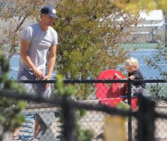 Josh Duhamel takes his son Axl to the park on October 3, 2015