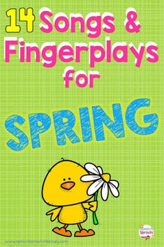 14 Preschool Songs And Fingerplays For Spring Speech Therapy - Speech Sprouts
