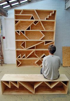 Zag wood book case.