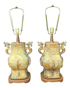 Remarkable Pair of Asian Table Lamps on DECASO.com