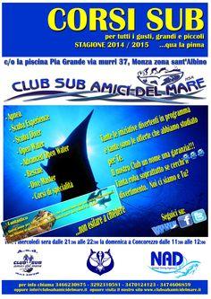 Corsi subacquea 2014/2015 del Club Sub Amici del Mare. Inizia la stagione didattica! #subacquea #corsisub #immersioni #openwater #advanced #divemaster #apnea