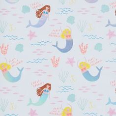 For the love of all things mermaid, this wrapping paper by Meri Meri is perfect! Decorated with adorable mermaids and colorful seashells. Mix and match with other products from the Meri Meri mermaid c