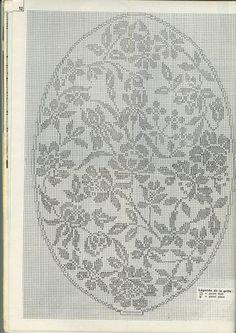 Unsymmetrisches ovales Deckchen Filet Crochet Charts, Crochet Doily Patterns, Crochet Borders, Crochet Mandala, Weaving Patterns, Thread Crochet, Crochet Doilies, Cross Stitch Patterns, Crochet Table Topper