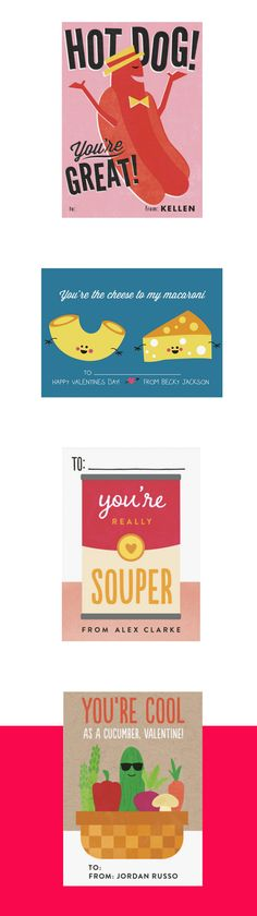 Discover a savory themed classroom Valentine's Day puns for your little one with the playful selection available at Minted.com