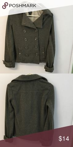 RESERVED Gray pea coat Gray pea coat medium no stains or tears Wet Seal Jackets & Coats Pea Coats