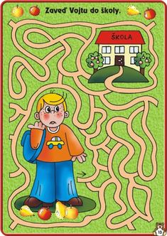 (2015-04) Skolebarn, mellem Dyslexia Activities, Mazes For Kids, Maze Puzzles, Picture Puzzles, Pre Writing, Activity Sheets, Stories For Kids, Fine Motor Skills, Grade 1