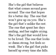 I am that girl...