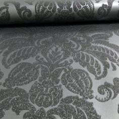 Arthouse Glisten Damask Pattern Floral Metal Glitter Wallpaper 673201
