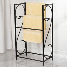 Mckell Free Standing Towel Rack Bathroom Pinterest Towels And Rail