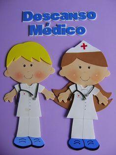 Eu Amo Artesanato: Moldes em EVA de médicos e enfermeiros