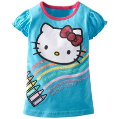 Beiars cotton kids baby infants girl short sleeve t-shirt hello kitty tee