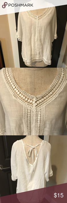 NWT FYLO TOP NWT FYLO top. This white top is semi-sheer and has a beautiful lace edging throughout. It is perfect for Spring & Summer🌻🌞 Fylo Tops