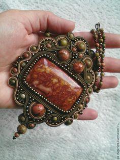 Soutache Pendant, Soutache Jewelry, Beaded Jewelry, Handmade Jewelry, Bead Embroidery Jewelry, Beaded Embroidery, Shibori, Metal Clay, Clay Creations