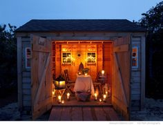Combining my love of of candles and cottages and reading. A reading barn. I must.