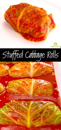 Stuffed Cabbage Rolls should be placed into the comfort food category in my opinion. Wonderfully healthy cabbage that has been stuffed with ingredients we all love, then slowly braised in the oven until tender. In this recipe, there is an option for adding quinoa to the cabbage filling for a nice pop of new texture and added protein. #cabbagerolls #comfortfood