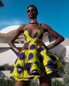 Angolan Model Maria Borges in Lavie By CK Ankara Print Summer Dress African Print Dresses, African Print Fashion, African Fashion Dresses, African Dress, African Prints, African Attire, African Wear, Ankara Stil, Barbie Mode