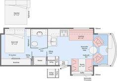 Winnebago Class A Floor Plans. Winnebago Class A Floor Plans Photos. Rv Floor Plans, House Plans, Door Bed, Toy Hauler Travel Trailer, Sliding Table, Class C Motorhomes, Class C Rv, Vintage Campers Trailers