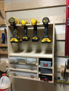 Replaced my old drill rack with a new one for my #french #cleat wall
