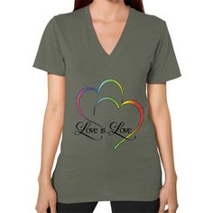 """Love is Love"" V-Neck Tee"
