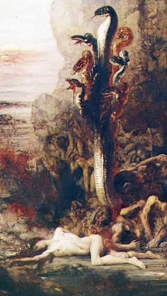 — xaravaggio:Gustave Moreau, Hercules And The Hydra...