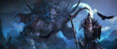 Kickstarter illustration by alexnegrea on DeviantArt Dark Creatures, Fantasy Creatures, Cgi, Dragon Age Rpg, Arcane Trickster, Dark Evil, Fantasy Paintings, High Fantasy, Fantasy Life