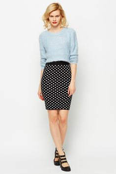 High Wiast Polka Dot Skirt @ Everything5pounds.com