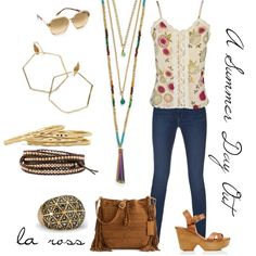 """""""A Summer Day Out"""" on Polyvore featuring Cookie Lee Jewelry.                    www.cookielee.biz/suheirpfeil"""