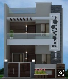 House front elevation design modern 44 Ideas for 2019 Bungalow Haus Design, Duplex House Design, House Front Design, Small House Design, Modern House Design, Front Gate Design, Entrance Design, Front Elevation Designs, House Elevation