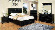 Furniture Of America Willow Creek California King Bed collection CM7690BK-CK