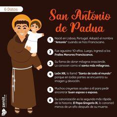 Saints For Kids, Religion, Instagram, Saints, San Antonio, Frases, Saint Anthony Of Padua, Priest, Prayers