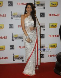 Karisma Kapoor White Net Embroidered Saree  Order here - http://rajasthanispecial.com/index.php/womens-collection/bollywood-saree/karisma-kapoor-white-net-embroidered-saree.html  Price - USD 75