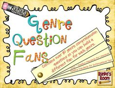 Genre Question Fans - 80 different questions for after reading different genres / forms:  fictional narrative, personal narrative, informative text, persuasive writing, and poetry. $