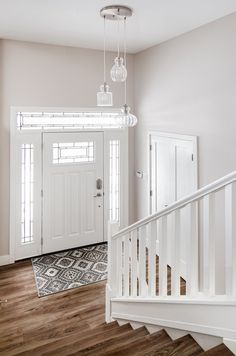 Part of our home redesign in Delta, BC by Madeleine Design Group from Vancouver. See more on our website. *Re-pin to your own inspiration board*. Inspiration Boards, Stairways, Vancouver, This Is Us, Entryway, Group, Website, Interior Design, Storage