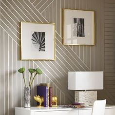 Home - how to: create linear patterned wallpaper DIY