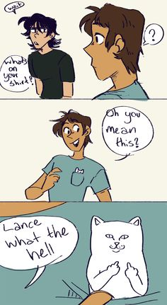 """ask-college-klance: """"""""squints at mods ya'll ain't slick (submitted by: @peachy-matsu) """" """""""