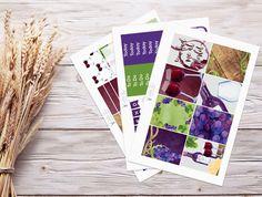 Planner Stickers | Mini Weekly Kit - Wine | Erin Condren Vertical