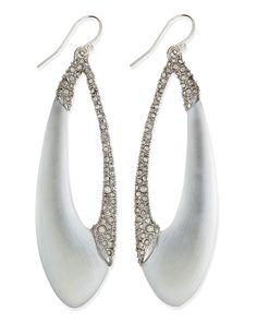 Alexis Bittar Encrusted Asymmetric Lucite Teardrop Earrings
