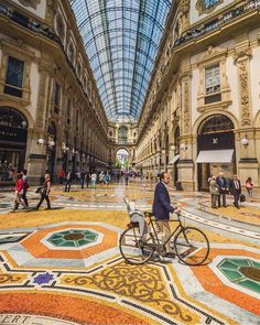 """BBC Travel on Instagram: """"Feast your eyes on theGalleria Vittorio Emanuele II, one of the world's oldestshopping malls. Located in central #Milan, the mall is…"""""""