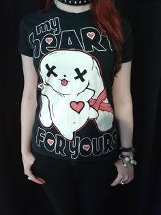 maglia My Heart Luv Bunny #zombie #love