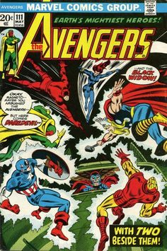 """Not a dream! Not a hoax! Not a pilot for the movie! The Black Widow and Daredevil (hey, Marvel had its own Green Arrow and Black Canary before Hawkeye and Mockingbird) fill the roster as """"X-Men's Cancellation Vacation"""" and """"Hawkeye's Seventies Sabbatical"""" collide! They name these things now?: Writer Steve Englehart. H.E. double tooth-picks: Artists Don Heck and Mike Esposito."""