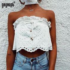 7f2670377d0aa Gagaopt 2018 New Crop Top Women Sexy Shirt Tank Bustier Bra Vest Bralette  Blouse Girl Vest