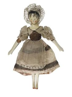 Princess Victoria collected over 130 dolls. Victoria and her governess, Baroness Louise Lehzen, dressed this one as a ballerina. The young Victoria was a great admirer of the famous ballerina Marie Taglioni and produced a number of sketches of her. Victoria named this doll 'Madame Galdstre Taglioni'. This combines the surnames of the two principal dancers in 'La Tyrolienne', Taglioni and the lesser known Madame Galdstre. This ballet was performed at Covent Garden between 1832 and 1833.