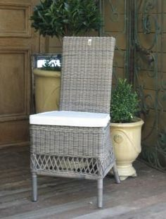 Riviera Maison ST MALO High Back Outdoor Dining Chair - Vintage Rattan