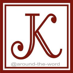 "Alphabet Square No Fill Frame Letter ""K"" Monogram Vinyl Wall Decal Sticker Word 
