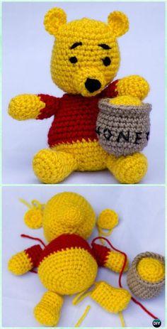 Ganchillo amigurumi Winnie the Pooh Patrón libre - crochet amigurumi Winnie the Pooh Patrones gratis