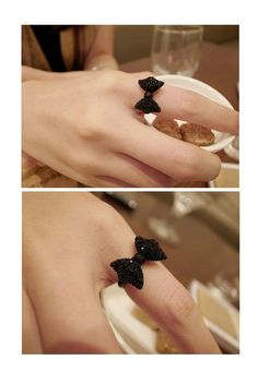 Fashion and Cute Dazzling Bowknot Embellished Women's Ring  - Sammydress.com