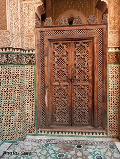Africa |  A door in Fez, Morocco