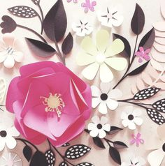 papercut flowers by Hanna Nyman (artisticmoods)