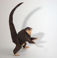 Origami Monkey by Saadya Sternberg folded by Gilad Aharoni